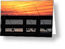 Fishing Poles Mount Sinai New York  Greeting Card