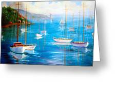 Fishing Port Greeting Card