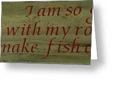 Fishing Rod Greeting Card
