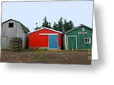 Fishing Shacks  Prince Edward Island  Canada Greeting Card