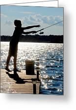 Fishing Silhouette Greeting Card