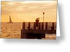 Fishing The Gulf Greeting Card
