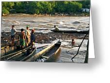 Fishing The River Magdalena Greeting Card