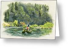 October Morning Fishing The Trinity River Greeting Card