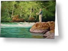 Fishing The Umpqua Greeting Card