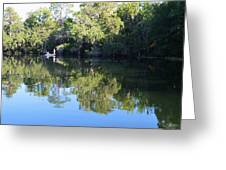 Fishing The Withlacoochee River. Greeting Card