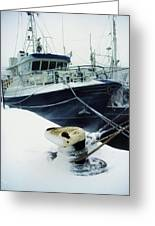 Fishing Trawler, Howth Harbour, Co Greeting Card by The Irish Image Collection