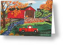 Fishing Under The  Covered Bridge Greeting Card