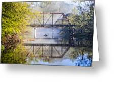 Fishing Under The Trestle Greeting Card