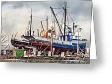 Fishing Vessel Ranger Drydock Greeting Card