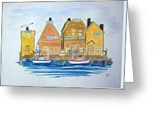 Fishing Village 3 Greeting Card