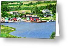 Fishing Village In Prince Edward Island Greeting Card