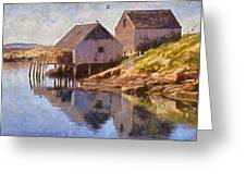 Fishing Wharf Greeting Card