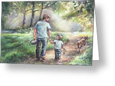 Fishing With My Dad  Greeting Card by Laurie Shanholtzer