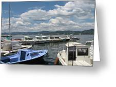 Fishingboats Greeting Card