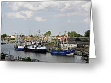 Fishingport Buesum Greeting Card