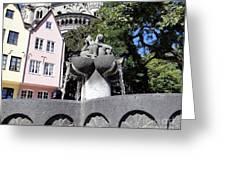 Fishmongers Fountain In Koln, Germany Greeting Card