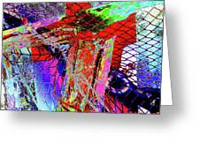 Fishnet Fantasy, A Collage Between Maine And Florida. Greeting Card