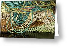 Fishnets And Ropes Greeting Card