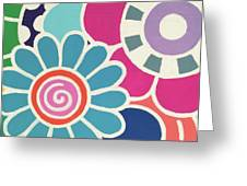 Five Blooms Greeting Card