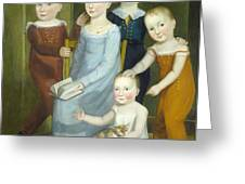 Five Children Of The Budd Family Greeting Card