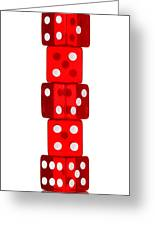 Five Dice Stack Greeting Card by Richard Thomas