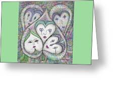 Five Elizabethan Ladies Greeting Card