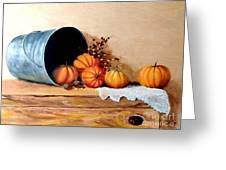 Five Little Pumpkins Greeting Card