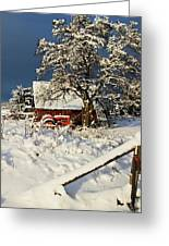 Five Mile Winter's Barn #9862 Greeting Card