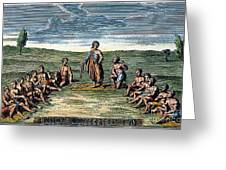 Five Nations: Meeting, C1570 Greeting Card by Granger