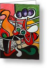 Five O' Clock With Picasso Greeting Card