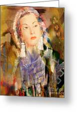 Five Octaves - Tribute To Yma Sumac Greeting Card