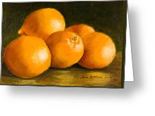Five Oranges Greeting Card