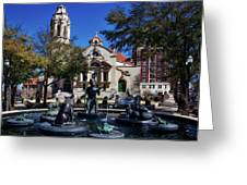 Five Points Fountain Greeting Card