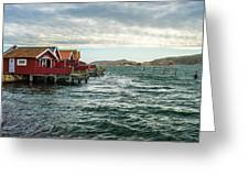 Fjallbacka Huts Greeting Card
