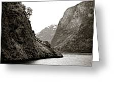 Fjord Beauty Greeting Card
