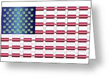 Flag Bottles3 Greeting Card