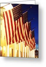 Flag Congress Hall Cape May Nj Greeting Card