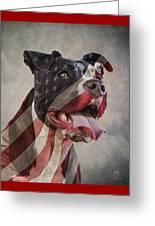 Flag Dog Greeting Card
