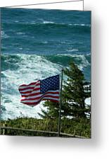 Flag Flying Greeting Card