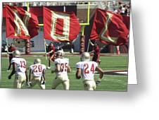 Flag Football Greeting Card