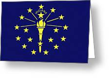 Flag Of Indiana Greeting Card