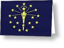 Flag Of Indiana Wall Greeting Card