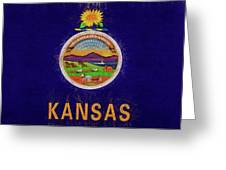 Flag Of Kansas Grunge Greeting Card