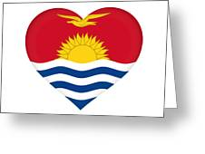 Flag Of Kiribati Heart Greeting Card