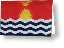 Flag Of Kiribati Texture Greeting Card