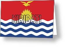 Flag Of Kiribati Word Greeting Card