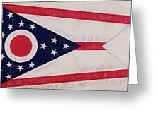 Flag Of Ohio Grunge Greeting Card