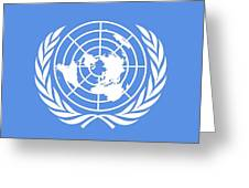 Flag Of The United Nations Greeting Card