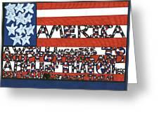 Flag One Greeting Card